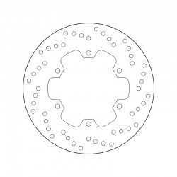 Rear brake disc Brembo DUCATI 821 MONSTER 821 STRIPE 2015 -