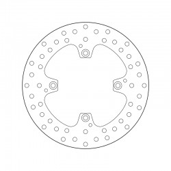 Rear brake disc Brembo DUCATI 796 MONSTER ANNIVERSARY 2013 -