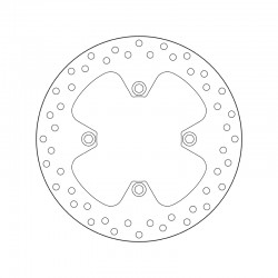 Rear brake disc Brembo TRIUMPH 865 SCRAMBLER IE 2006 - 2014