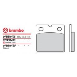 Rear brake pads Brembo Benelli 350 354 TURISMO, SPORT 1983 - 1985 type 04