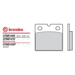 Rear brake pads Brembo Benelli 650 654 1983 - 1985 type 04