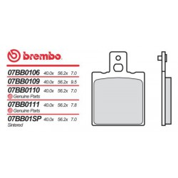 Rear brake pads Brembo Bimota 906 TESI 1991 -  type 06