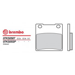 Rear brake pads Brembo Suzuki 680 RG 1986 - 1987 type 07