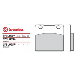 Rear brake pads Brembo Suzuki 1150 GS EG 1986 -  type 07