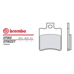 Rear brake pads Brembo Malaguti 100 F 12 PHANTOM TWIN DISK 2002 -  type OEM