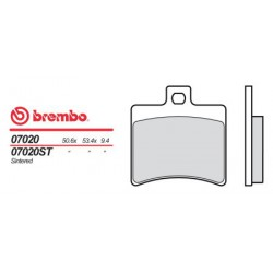 Rear brake pads Brembo Aprilia 400 ATLANTIC SPRINT 2006 -  type OEM