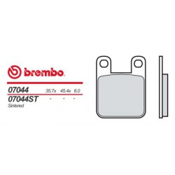 Rear brake pads Brembo Italjet 180 DRAGSTER (AJP CAL.) 1999 -  type OEM