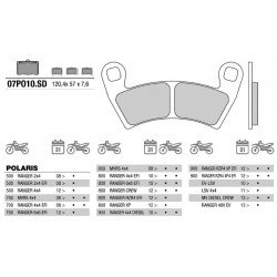 Rear brake pads Brembo Polaris 900 RANGER RZR4 XP4 EFI 2012 -  type SD