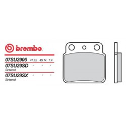Rear brake pads Brembo Hyosung 400 TE 2005 -  type SD