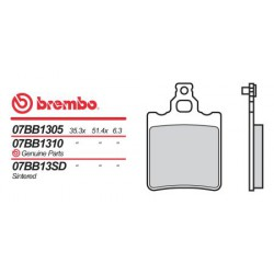 Rear brake pads Brembo Aprilia 275 CLIMBER 1989 - 1990 type SD