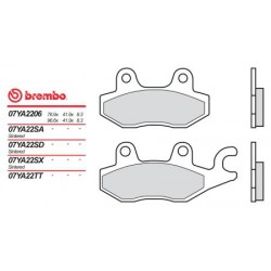 Rear brake pads Brembo Arctic Cat 50 DVX 2006 -  type SD