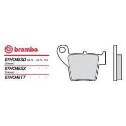 Rear brake pads Brembo HM 50 CRE BAJA RR 2007 - 2009 type SD