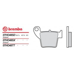 Rear brake pads Brembo HM 50 CRE SIX COMPETITION 2007 - 2008 type SD