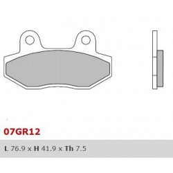 Rear brake pads Brembo Hyosung 700 I DELUXE 2013 -  type SP
