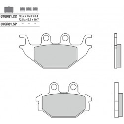 Rear brake pads Brembo Indian 1130 SCOUT 2015 -  type SP