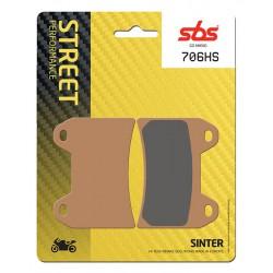 Front brake pads SBS Moto Guzzi  1400 California Custom 2013 - 2015 směs HS