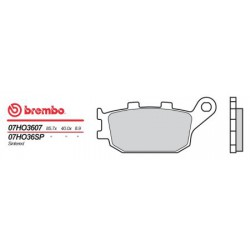 Rear brake pads Brembo Honda 954 CBR RR 2002 - 2003 type SP