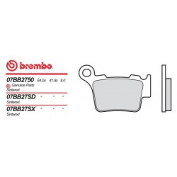 Rear brake pads Brembo Rieju 450 MRX 2008 -  type SX