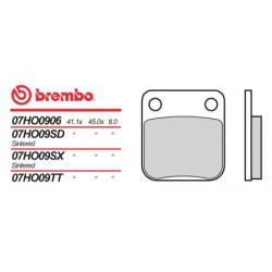 Rear brake pads Brembo Suzuki 65 RM 2003 -  type SX