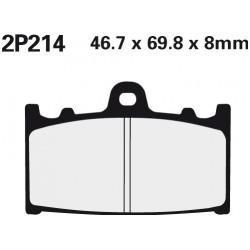 Front brake pads Nissin Kawasaki ZX-6R 600 D1-D4 (ZX6) 1990 - 1993 type ST
