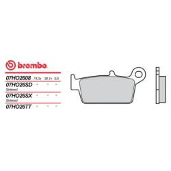Rear brake pads Brembo Hyosung 400 XRV 2005 -  type SX