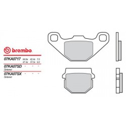 Rear brake pads Brembo Polaris 200 SAWTOOTH 2006 -  type SX