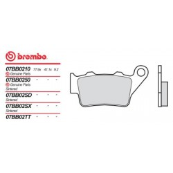 Rear brake pads Brembo Aprilia 660 PEGASO FACTORY 2005 -  type SX