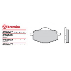 Rear brake pads Brembo Yamaha 490 YZ 1988 - 1990 type SX