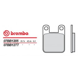 Rear brake pads Brembo Derbi 75 GPR 1989 -  type TT