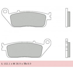 Rear brake pads Brembo Kymco 700 XCITING R 2009 -  type XS