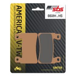 Front brake pads SBS Harley-Davidson FLSTNSE 1802 CVO Softail Deluxe 2015 - 2017 směs HS