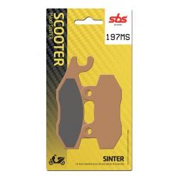Front brake pads SBS Benelli  250 Caffenero Left/Rear 2008 - 2014 směs MS