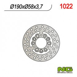 Rear brake disc NG Peugeot 100 LOOXOR SBC 2T 2001 - 2002