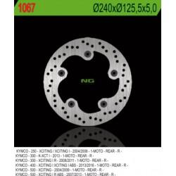 Rear brake disc NG Kymco 400 XCITING i S ABS 2018 - 2019