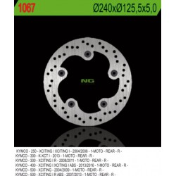 Rear brake disc NG Kymco 500 XCITING i R ABS 2007 - 2013