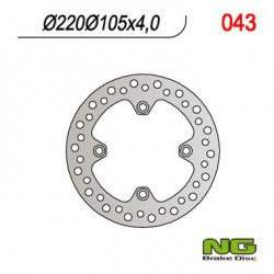 Rear brake disc NG Keeway 125 LOGIK i 4T Efi CBS 2013 - 2019