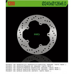 Rear brake disc NG Peugeot 200 GEOPOLIS EXECUTIVE 2006 - 2009