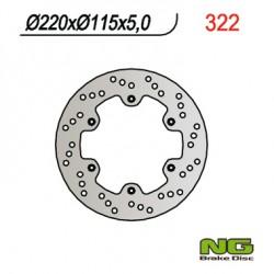 Rear brake disc NG TM 125 MC 1990 - 1992
