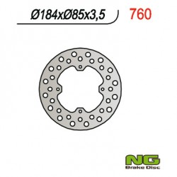 Rear brake disc NG Suzuki 80 RM 1986 - 2001