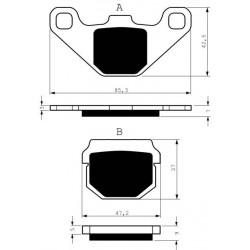 Front brake pads Goldfren Hyosung SF 50 1999-2003 type AD