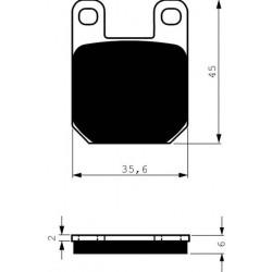 Front brake pads Goldfren Gas Gas Pampera 370 1997-1997 type AD