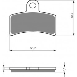 Front brake pads Goldfren Gas Gas TXT 320 1999-2001 type AD