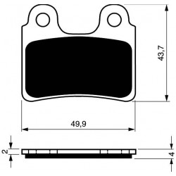 Front brake pads Goldfren Gas Gas TXT 80 Cadet 2007-2009 type AD
