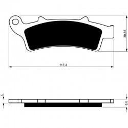 Front brake pads Goldfren Aprilia Atlantic 125 2003-2008 type AD