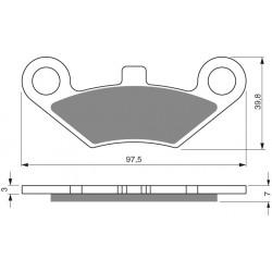 Front brake pads Goldfren CF Moto X6 Terralander 625 2011-2013 type AD