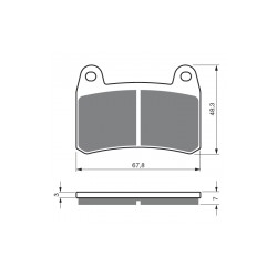 Front brake pads Goldfren Benelli BN 251 2014-2015 type AD