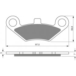 Front brake pads Goldfren Linhai Goon 2007-2009 type K5