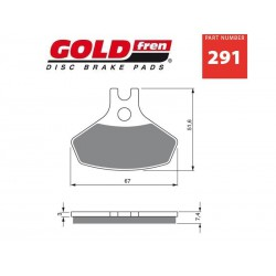 Front brake pads Goldfren Can-Am DS 450 2008-2014 type K5