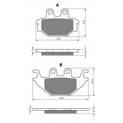 Front brake pads Goldfren TGB Blade 550 2009-2016 type K5