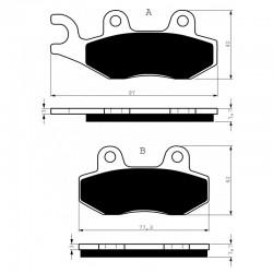Front brake pads Goldfren Triumph Trident 885 1991-1998 type S3